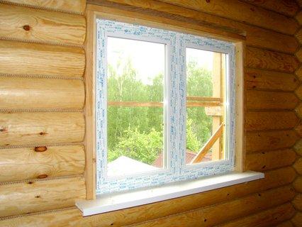 Установка окон в деревянный