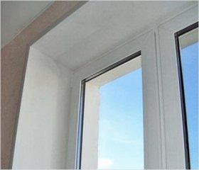 Установка укосів пластикових вікон